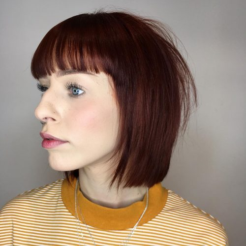 Blunt Bob With Straight Bangs