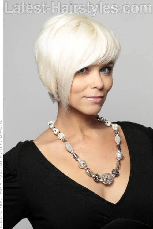 Platinum -Blonde-Cropped-Hairtstyle-with
