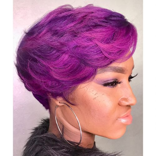 Short Purple Balayage