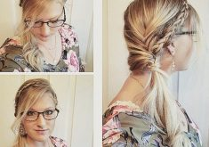 Geflochtenes Stirnband und Twisted Side Pony