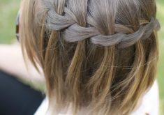 Frisuren Romantik: Wasserfall Braid in Kurzform
